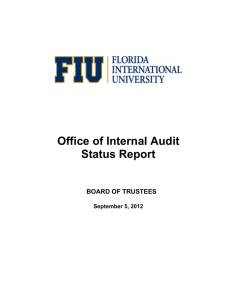 Office of Internal Audit Status Report
