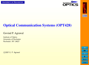 Optical Communication Systems (OPT428)