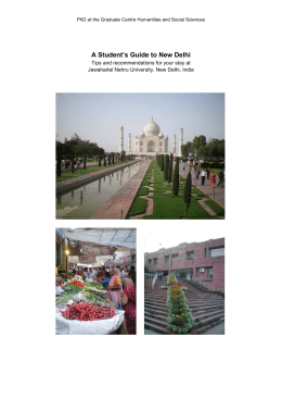 A Student's Guide to New Delhi