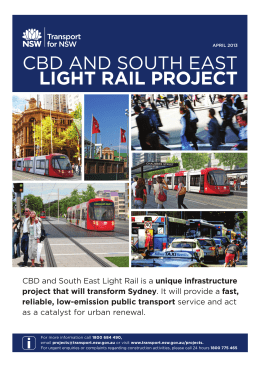 cbd and south east light rail project