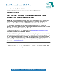 SBDC at UCF's Advisory Board Council Program Offers Reception