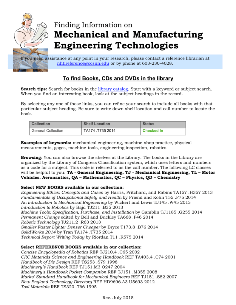 Mechanical and Manufacturing Engineering Technologies