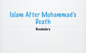 Islam After Muhammad Vocabulary