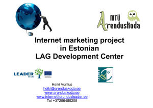 Internet marketing project in Estonian LAG Development Center