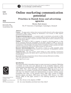 Online marketing communication potential