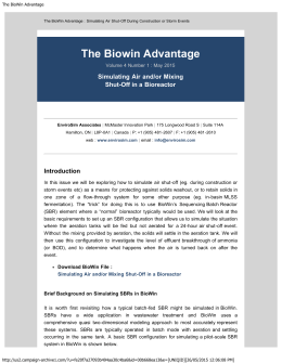 The BioWin Advantage - EnviroSim Associates Ltd.