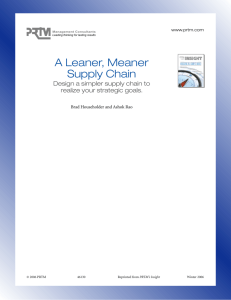 A Leaner, Meaner Supply Chain