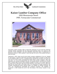 Kaiser Lumber Company Office - City of Eau Claire Temporary