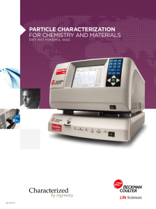 Particle characterization for Chemistry and