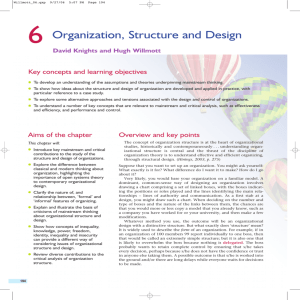 Organization, Structure and Design
