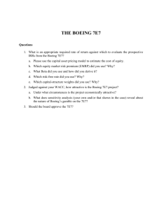 the boeing 7e7 - managementscientist.co.uk