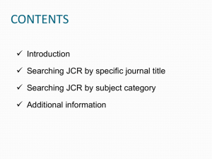 guide to access jcr journal quartile