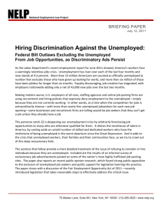 Hiring Discrimination Against the Unemployed