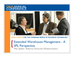 Extended Warehouse Management - A 3PL Perspective