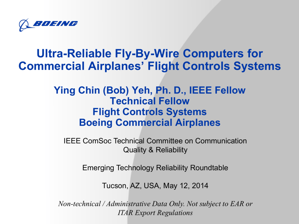 Ultra-Reliable Fly-By-Wire Computers for Commercial