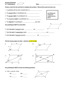 Geometry Worksheet 6.2