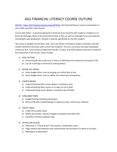 asu financial literacy course outline