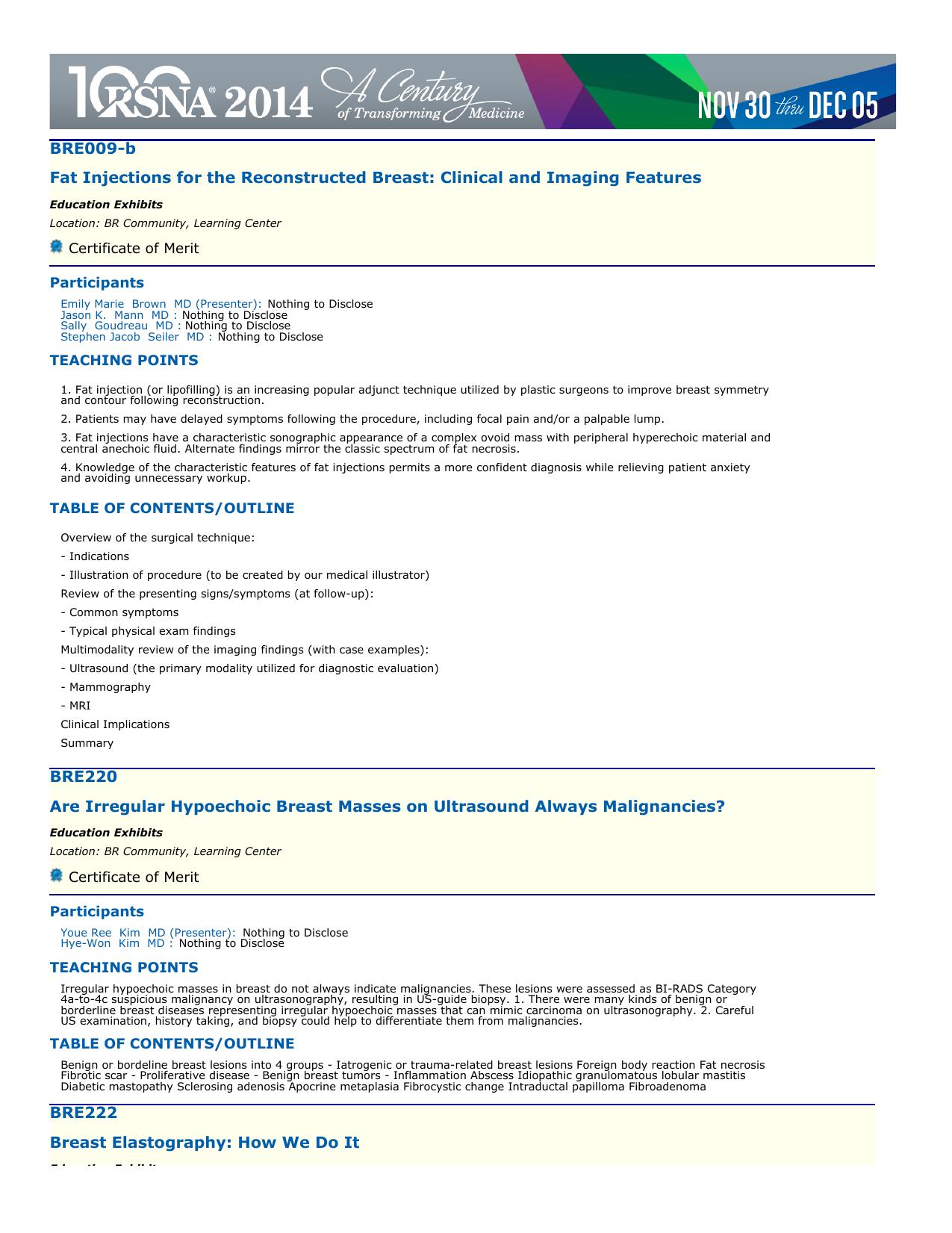 Ultrasound - RSNA 2014 - Radiological Society of North America