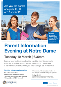 The University of Notre Dame Australia – Parent Information