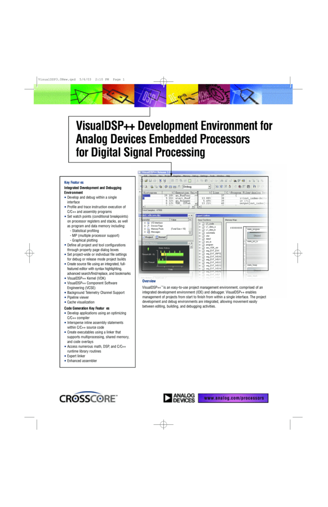 VisualDSP++ Development Environment for Analog