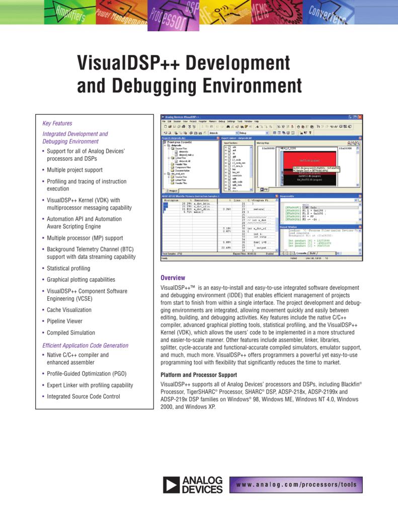 VisualDSP++ Development and Debugging Environment Product