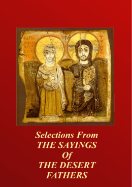 Selections from The Sayings of the Desert - Orthodox E
