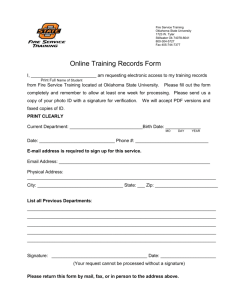 Online Training Records Form