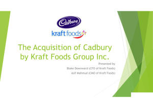 The Acquisition of Cadbury by Kraft Foods Group Inc.