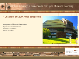 Information Literacy: a cornerstone for Open Distance Learning