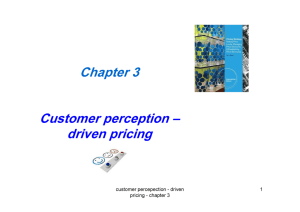 Chapter 3 Customer perception – driven pricing