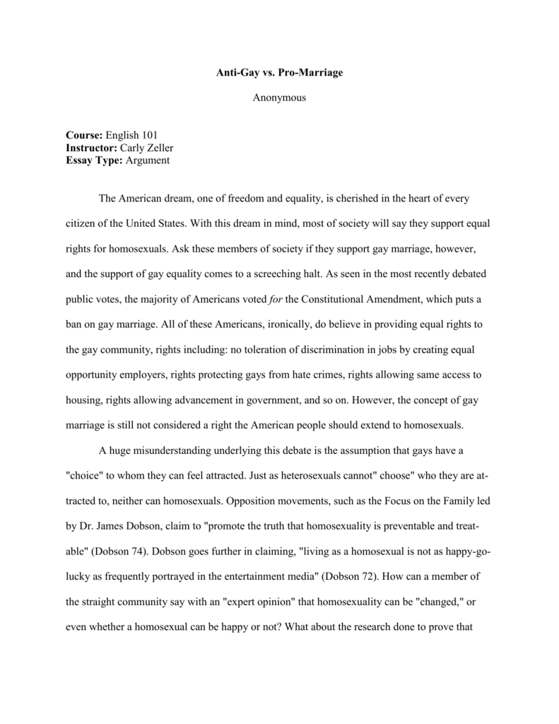 Classification Essay Thesis Statement  Science Essay also English Language Essay Antigay Vs Promarriage Anonymous Course English  Descriptive Essay Thesis
