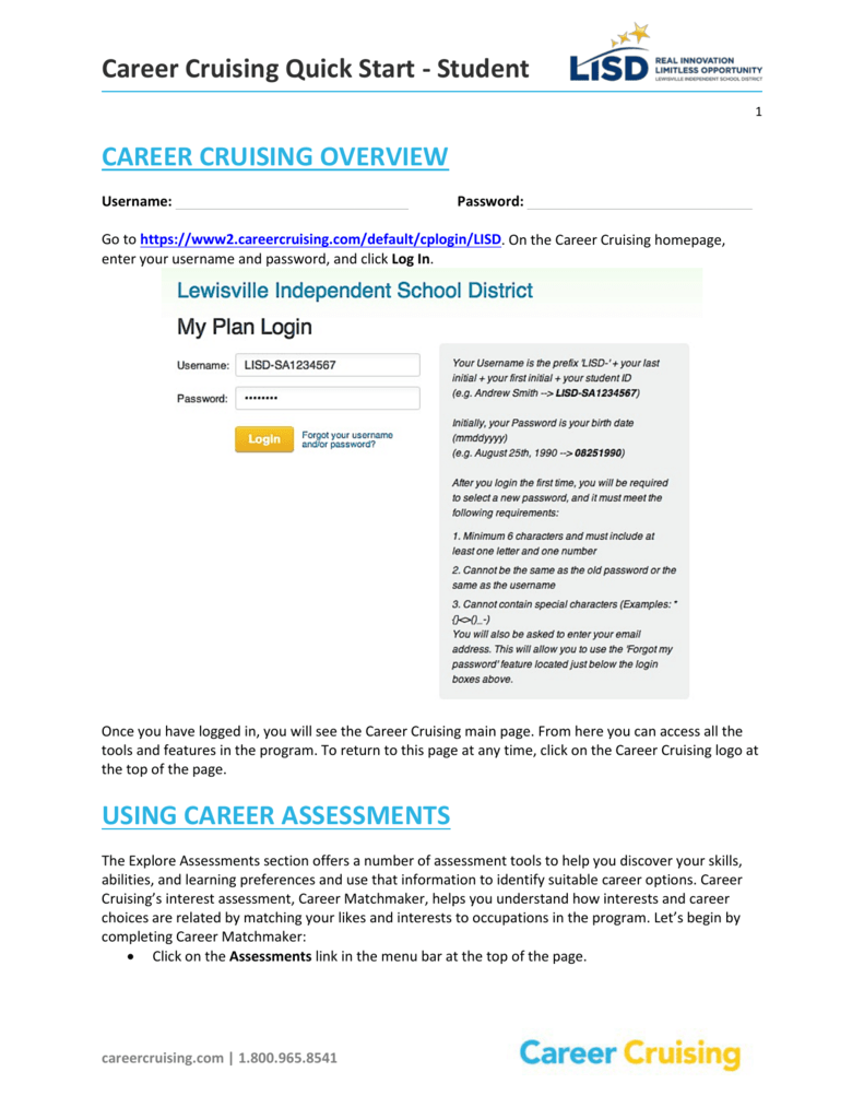 student career cruising overview