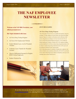 THE NAF EMPLOYEE NEWSLETTER - 21 FSS - 21 FSS