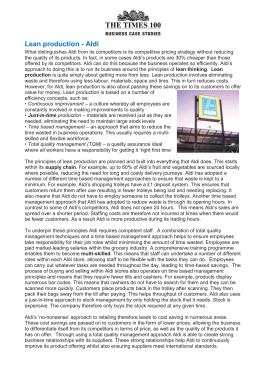 Aldi business case study