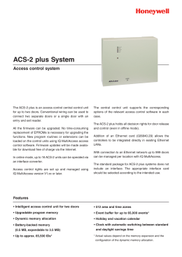 ACS-2 plus System - Honeywell Security Group
