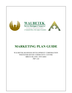 marketing plan guide - Waubetek Business Development Corporation