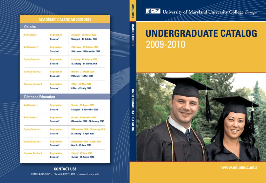 UMUC Europe Undergraduate Catalog 2009-2010