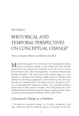 RHETORICAL AND TEMPORAL PERSPECTIVES ON