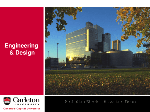 Dr. Alan Steele, Faculty of Engineering and Design