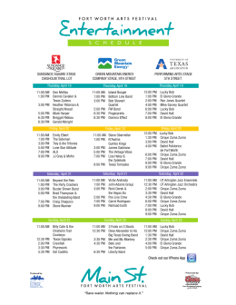 schedule - Main Street Fort Worth Arts Festival