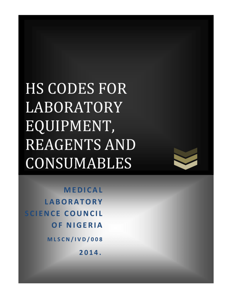 hs codes for laboratory equipment, reagents and
