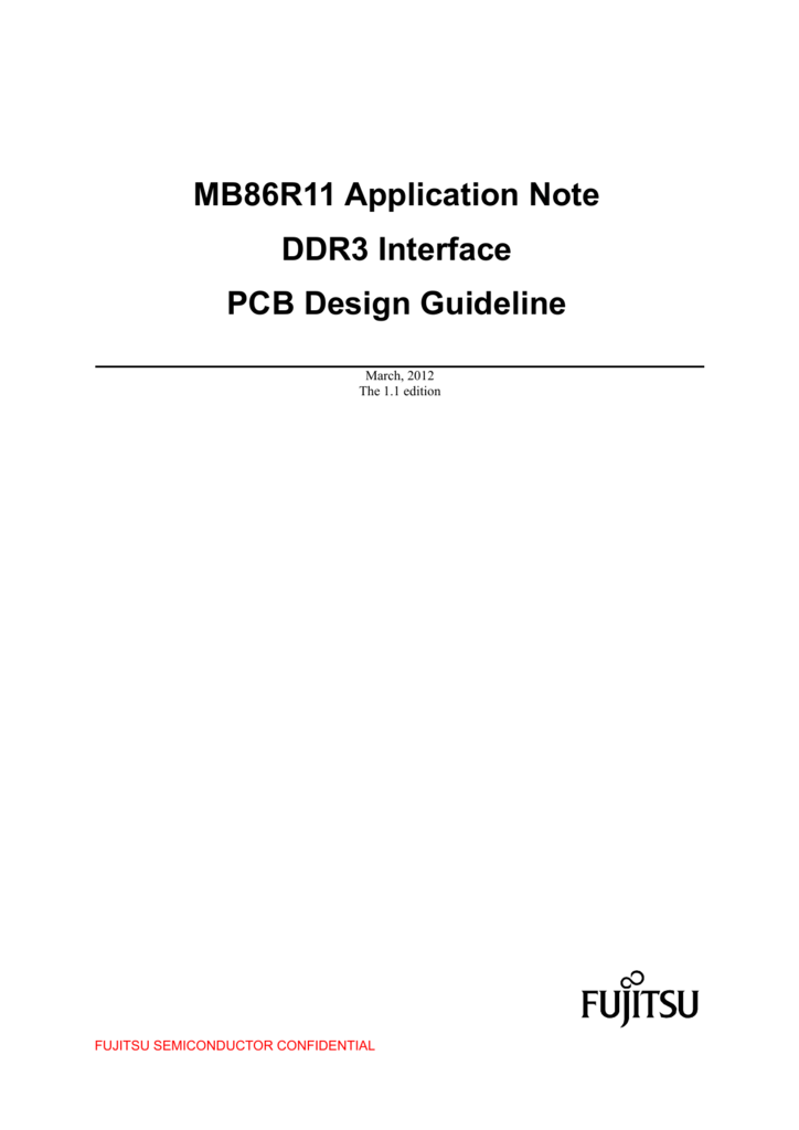 MB86R11 Application Note DDR3 Interface PCB Design