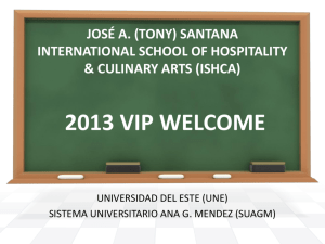josé a. (tony) santana international school of hospitality & culinary
