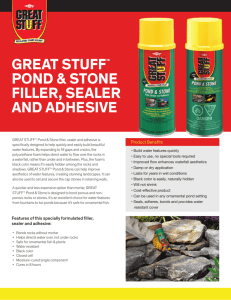 great stuff™ pond & stone filler, sealer and adhesive