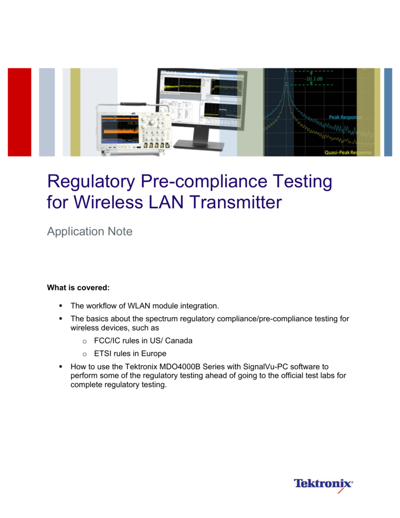 Regulatory Pre-compliance Testing for Wireless LAN