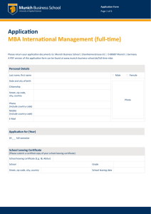 Application MBA International Management (full-time)