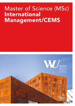 Master of Science (MSc) International Management/CEMS