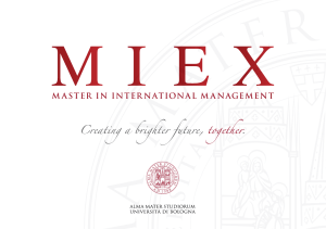 flyer - MIEX | Master in International Management