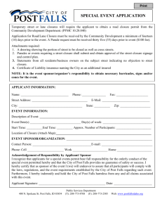 special event application