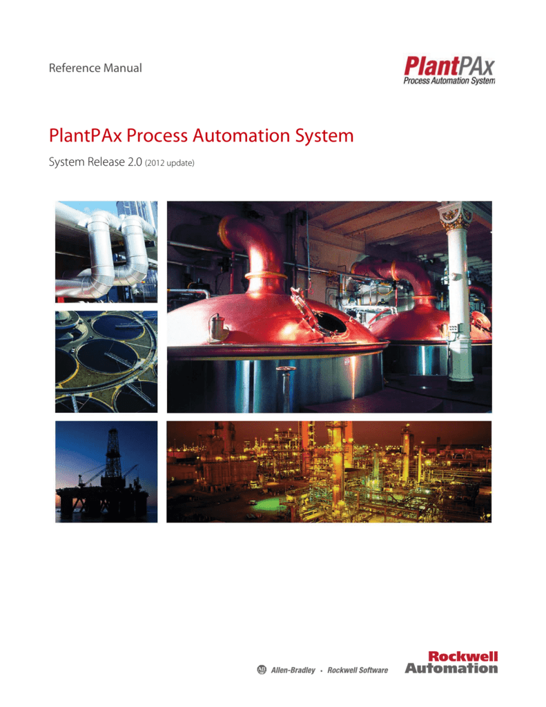 PlantPAx Process Automation System Reference Manual